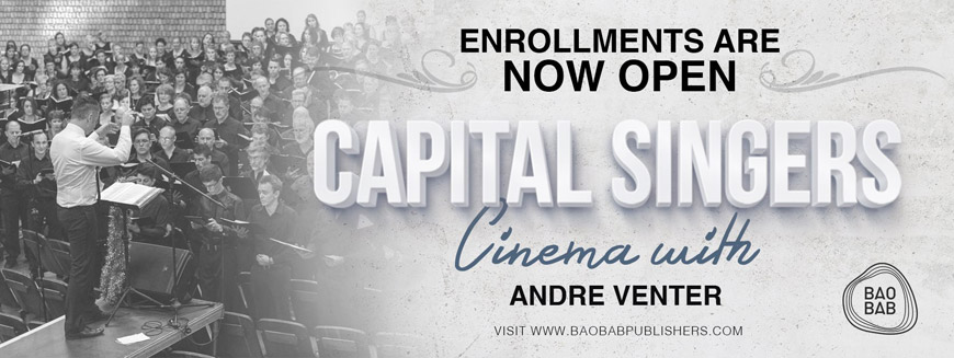 Capital Singers - Cinema with Andre Venter - 22 & 24 April 2016